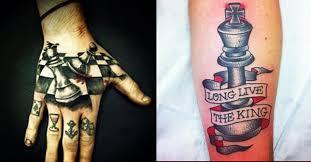 18 classy chess piece tattoos tattoodo