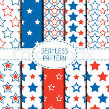 nautical wrapping paper set of geometric patriotic seamless pattern with white blue