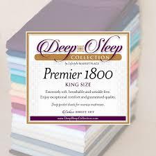 king sheets deep sleep 1800 thread count 4 pc sheet set