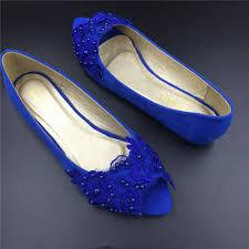 wedding shoes royal blue blue peep toe wedding shoes royal blue women bridal dress flats