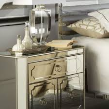 Small Mirrored Nightstand Innovative Mirrored Nightstand Concept Features White And Mirror