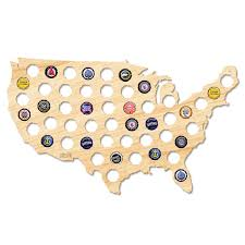 Beer Map Usa by Beer Cap Map Of The Usa U2013 Dormify