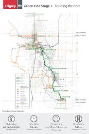 Green Line Metro Map by The City Of Calgary Green Line Construction