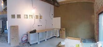 caissons cuisine semaine 8 peintures cuisine électricité ciment lissé salle
