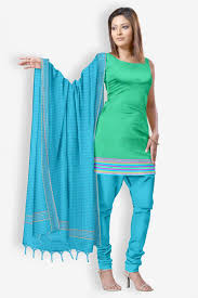 buy traditional solid zari border cotton dress material online
