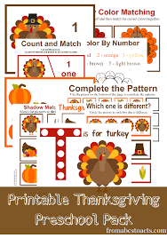 printable thanksgiving preschool pack thanksgiving preschool