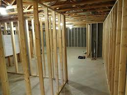 Diy Basement Bathroom Framing Out A Basement Bathroom Walls Vapor Barrier Inside Windows