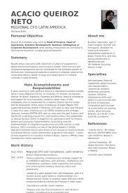 Lebenslauf Vorlage Usa Cfo Cv Beispiel Visualcv Lebenslauf Muster Datenbank