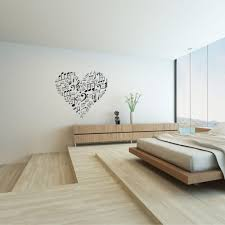 creative ideas decorative vinyl sticker wall decal for house interesting love shaped decorative vinyl decal idea set the white wall above wooden vanity table