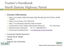 North Dakota travel programs images North dakota truck size and weight education program jpg