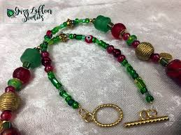 large red beads necklace images Red green turkmen pendant necklace set gwen lafleur studios jpeg