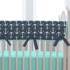 navy anchors crib rail cover carousel designs