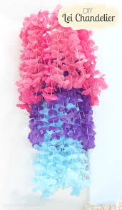 Easy Diy Chandelier Craftaholics Anonymous Lei Chandelier Party Craft