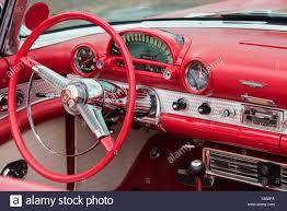 1961 Thunderbird Interior Red Ford Thunderbird Stock Photos U0026 Red Ford Thunderbird Stock