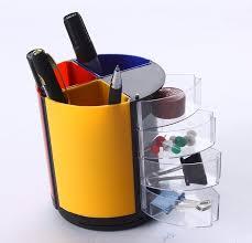 papeterie de bureau en plastique multi fonction porte stylo vase pot à crayons papeterie
