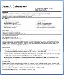 Software Testing Resume Samples For Freshers by Software Testing Qa Resume U2013