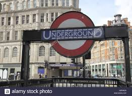 underground station knightsbridge london england stock photos