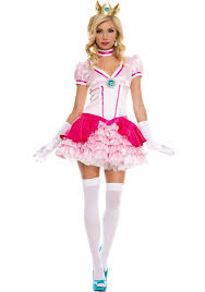 Mario Princess Peach Halloween Costume Music Legs Pink Peachy Princess Peach Super Mario Bros