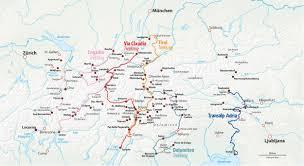 Alps On A Map Trekkingbike Transalp Alpenüberquerungen Mit Dem Trekkingrad