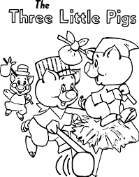 running the three little pigs coloring page wecoloringpage