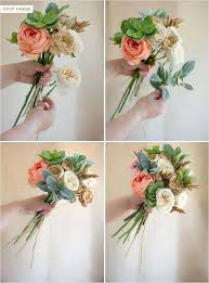 Diy Bridal Bouquet Diy Wedding Bouquets With Fake Flowers U2013 Thejeanhanger Co
