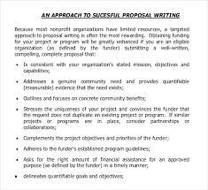 sample funding proposal template sample grant proposal template