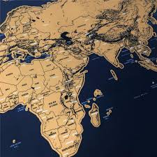 World Map Poster Large Scratch Off World Map Poster