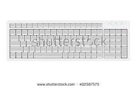 blank keyboard retro layout realistic illustration stock vector