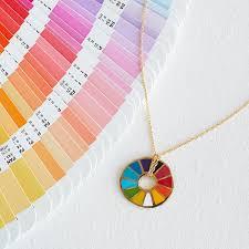color wheel pendant handmade pendant uncommongoods
