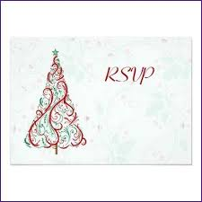christmas party invitations with rsvp cards home design ideas