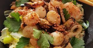 wok de fruits de mer recette coréenne ma p tite cuisine