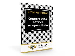 cease and desist copyright infringement letter template diythelaw