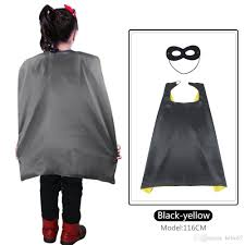Boys Batman Halloween Costume Special 70 70cm Kid Superhero Cape Yellow Black Costumes