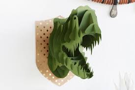 Dinosaur Head Wall Mount Real Party Animals Cricut