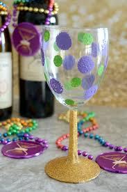 mardi gras glasses mardi gras wine glass simply darr