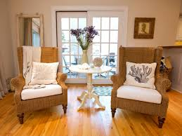 Living Room Wicker Furniture Ikea Accent Chairs With White Cushions And Side Table Plus