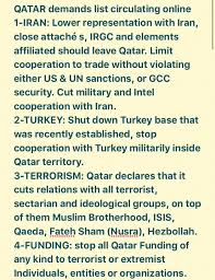 isis black friday target list breaking gulf states give qatar list of demands to restore