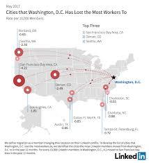 Washington Nc Map by Linkedin Workforce Report Washington D C May 2017 Linkedin