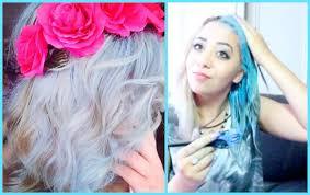 pastel blue hair tutorial youtube