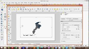 qgis layout mode qgis how to create a map using qgis and map composer in qgis youtube