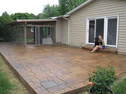 Dyed Concrete Patio by Solomon Colors