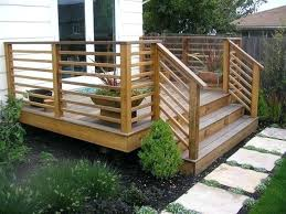 Wood Patio Deck Designs Ideas For Deck Railings Compared To A Vertical Deck Railing A