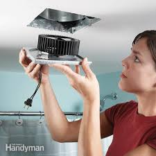 how to replace a bathroom ceiling fan bathroom exhaust fan the family handyman