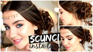 scunci twist formal pin up hairstyle scunci insta twist belleza