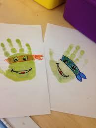 preschool ninja turtle handprint stamp we u0027re definitely doing