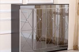 cabidor mirrored storage cabinet mirrored storage cabinet new valeria furniture inside 4