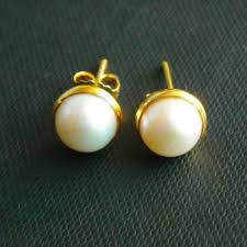 modern gold stud earrings buy gold pearl earrings 8mm stud earrings modern classic gold