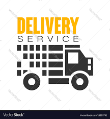 car service logo delivery service logo design template royalty free vector