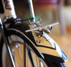 b 25 mitchell bomber new shur spin bicycle fender ornament