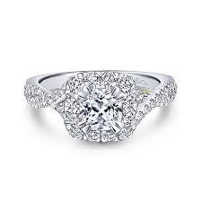cushion diamond ring 14k yellow and white gold cushion cut halo engagement ring